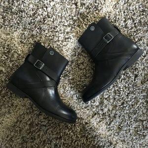 Birkenstock Black Collins Leather Ankle Boots 37